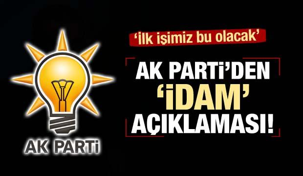 AK Parti'den 'idam' açıklaması