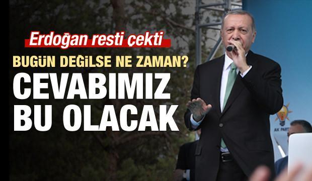 Erdoğan: Dolar bizim yollarımızı kesmez, hiç endişe etmeyin