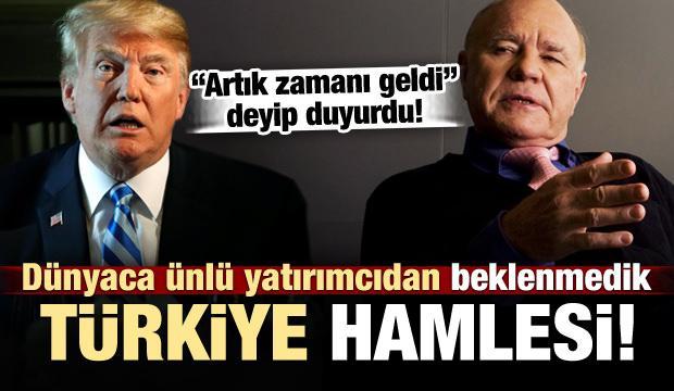 Ünlü yatırımcıdan kritik Türkiye hamlesi!