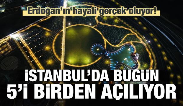 İstanbul'da 5 millet bahçesi bugün açılıyor