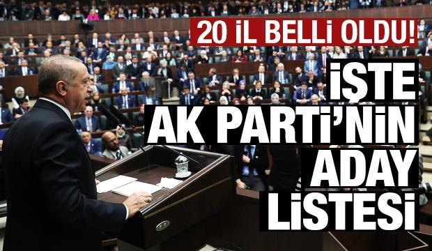 Erdoğan 20 ilin başkan adayını açıkladı!