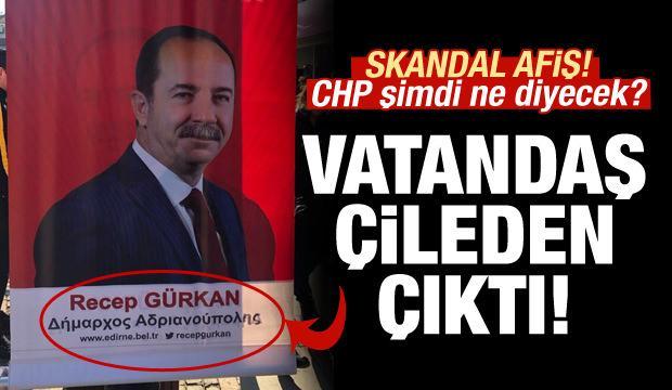 CHP'ye göre Edirne hala Bizans'ta! Skandal afiş