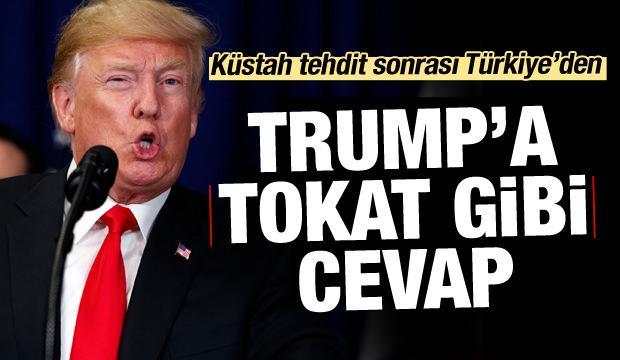 Çavuşoğlu'ndan Trump'a sert cevap!