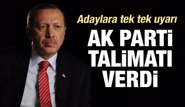 AK Parti talimatı verdi!