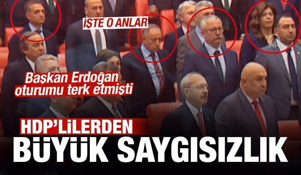 HDP-dən İstiqlal Marşı hörmətsizliyi