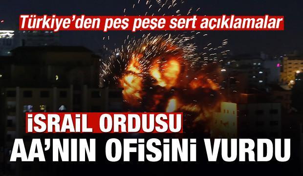İsrail, Anadolu Ajansının ofisini vurdu!