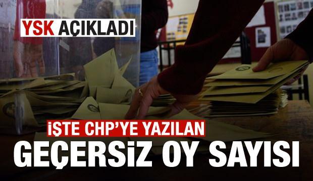 İşte CHP'ye yazılan geçersiz oy sayısı