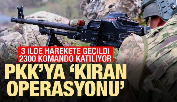 "3 ilde 129 tim harekete geçti: PKK'ya ""Kıran Operasyonu"""