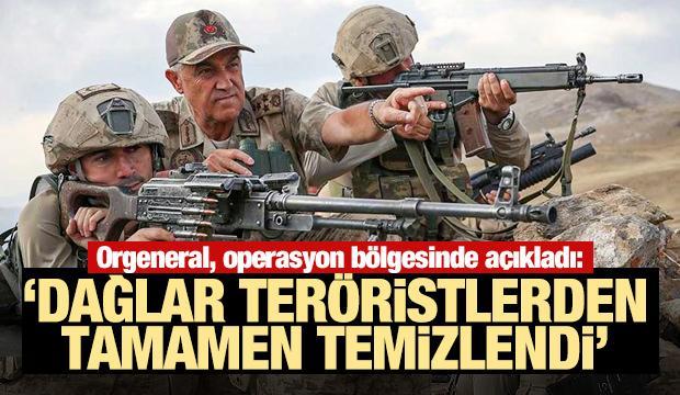 Orgeneral Çetin: 'Dağlar teröristlerden temizlendi'