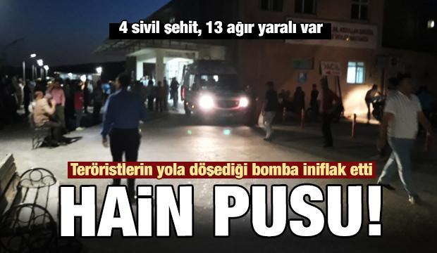 Son dakika haber: PKK'lıların yola döşediği bomba infilak etti