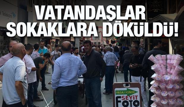İstanbul'da deprem! Vatandaşlar sokaklara döküldü