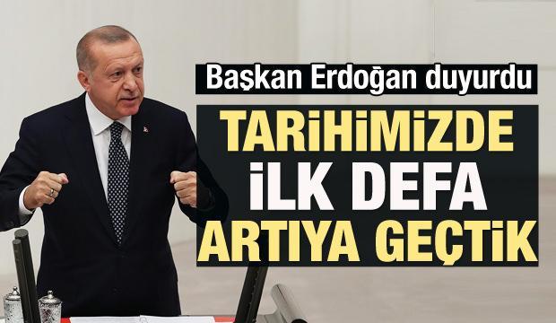 Erdoğan duyurdu: Tarihimizde ilk defa...