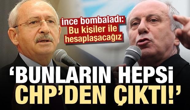Son dakika: Muharrem İnce'den çok sert açıklama: Bunların hepsi CHP'li