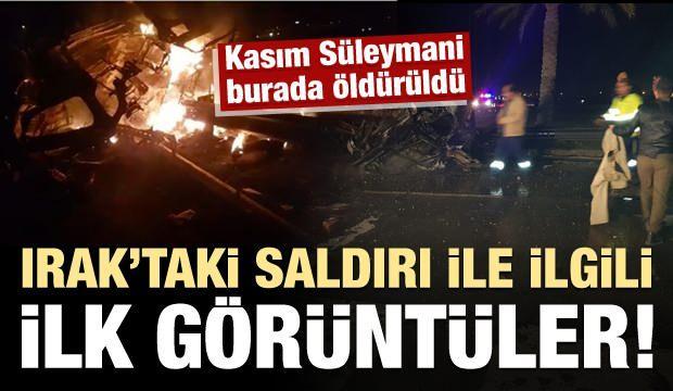Kasım Süleymani'nin öldürüldüğü saldırı sonrası ilk görüntüler
