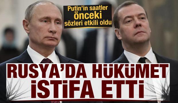 Son Dakika: Putin'in sözleri güne damgasını vurdu! Rusya'da hükümet istifa etti