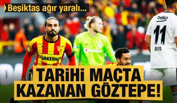 Tarihi maçta kazanan Göztepe! Beşiktaş ağır yaralı...