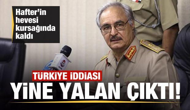 Hafter milislerinin 'Türk' iddiası yalan çıktı! Son dakika açıklaması