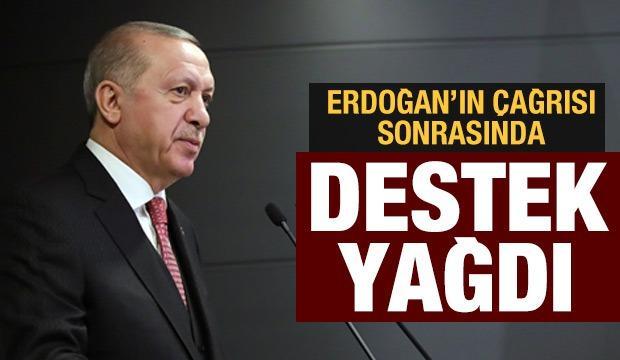 Başkan Erdoğan 'Biz bize yeteriz' dedi! Üst düzey isimlerden kampanyaya destek