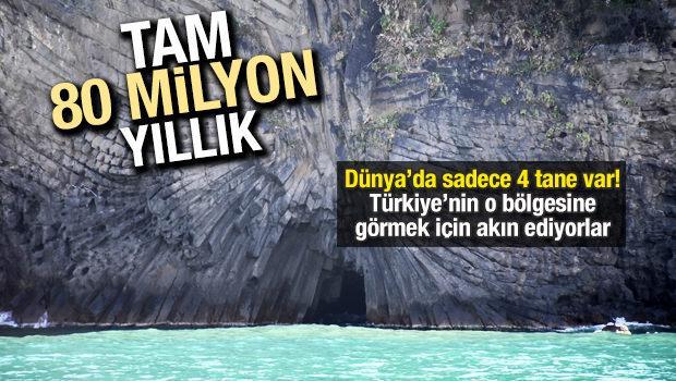 Bartın'da 80 milyon yıllık lav sütunları
