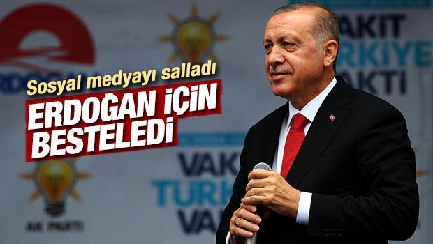 Rizeli sanatçıdan coşkulu Erdoğan şarkısı - VİDEO
