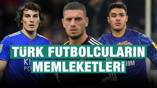 İşte Türk futbolcuların memleketleri!