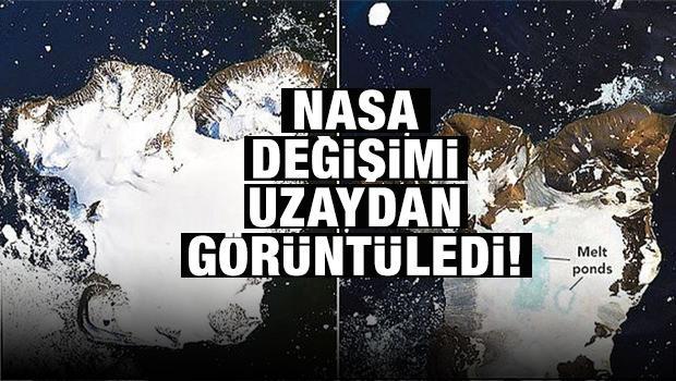 NASA değişimi uzaydan görüntüledi